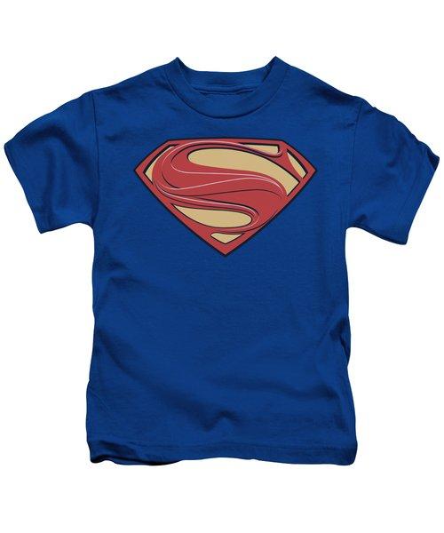 Man Of Steel - New Solid Shield Kids T-Shirt