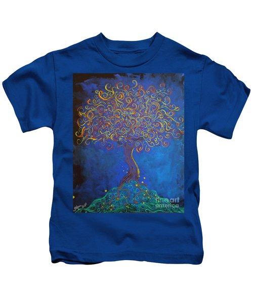 A Tree Of Orbs Glows Kids T-Shirt
