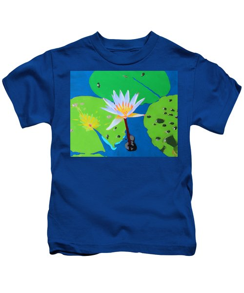 A Water Lily In Its Pad Kids T-Shirt