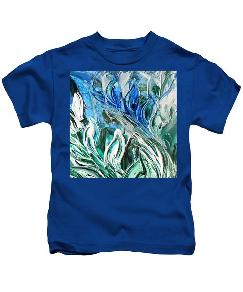 Abstract Floral Sky Reflection Kids T-Shirt