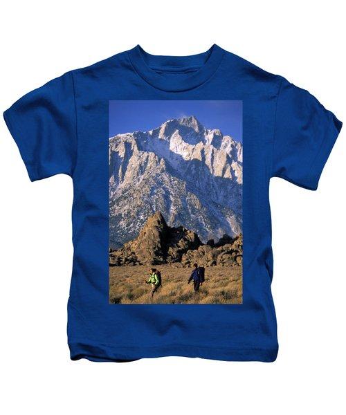 An Active Interracial Couple Kids T-Shirt