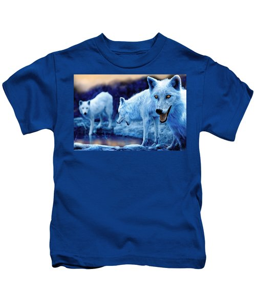 Arctic White Wolves Kids T-Shirt