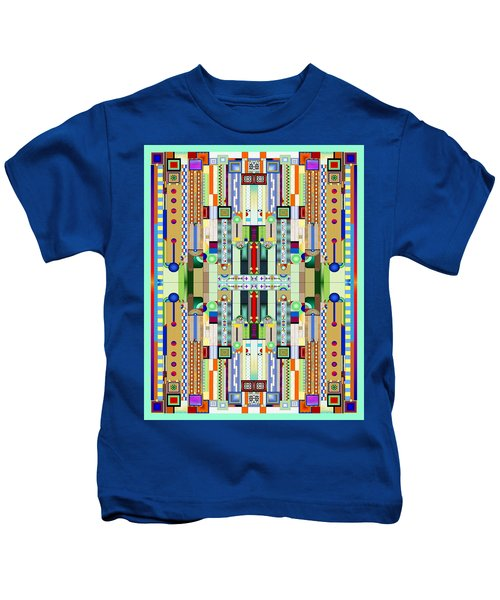 Art Deco Stained Glass 2 Kids T-Shirt