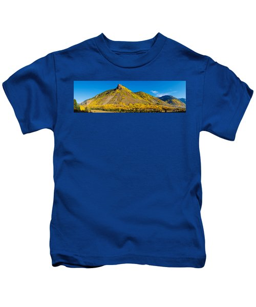 Aspen Trees On Mountain, Anvil Kids T-Shirt