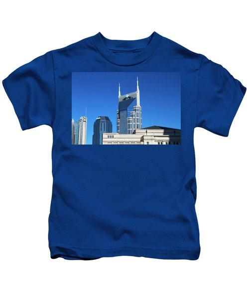 Batman Building And Nashville Skyline Kids T-Shirt
