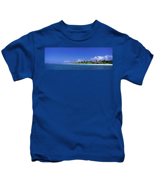 Beach Scene Maldives Kids T-Shirt
