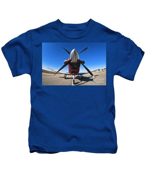 Beechcraft T-6a Texan II  Kids T-Shirt