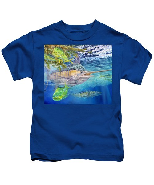Big Blue Hunting In The Weeds Kids T-Shirt