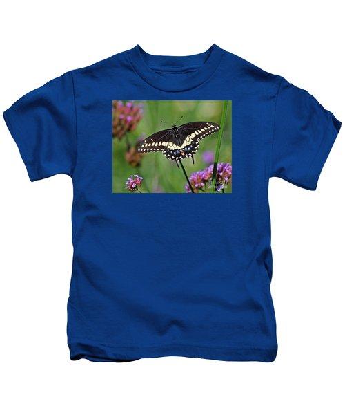 Black Swallowtail Butterfly  Kids T-Shirt