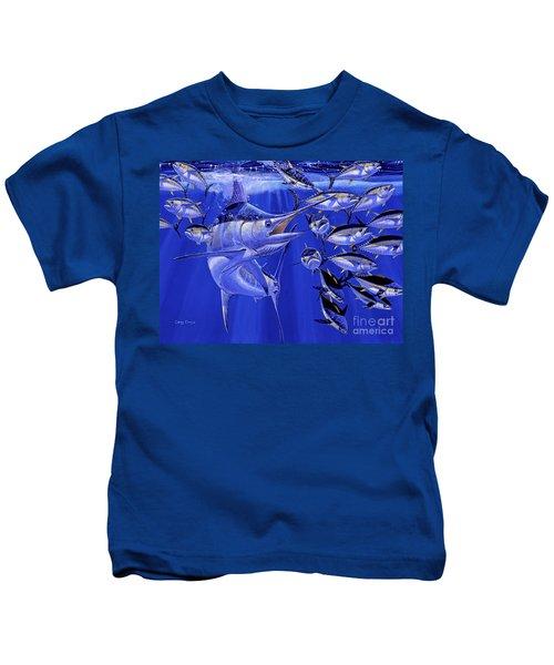 Blue Marlin Round Up Off0031 Kids T-Shirt