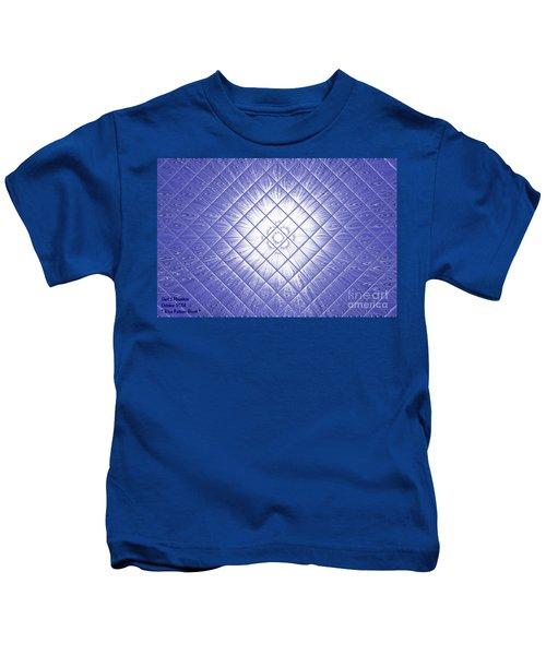 Blue Pattern Burst See Description Kids T-Shirt
