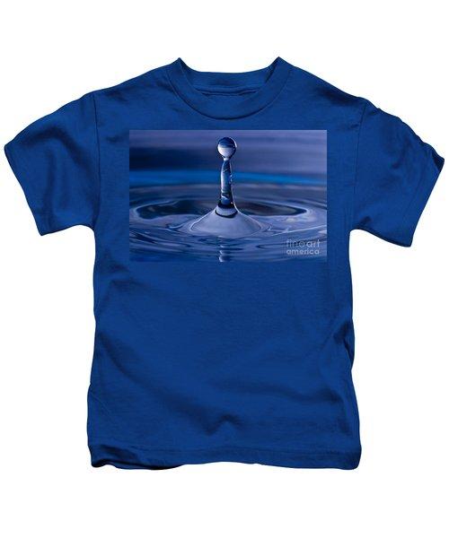Blue Water Drop Kids T-Shirt