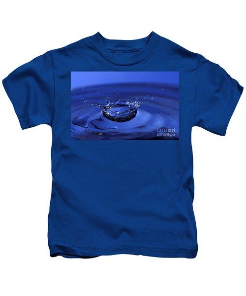Blue Water Splash Kids T-Shirt
