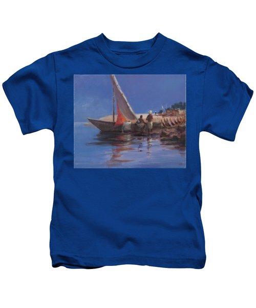 Boat Yard, Kilifi, 2012 Acrylic On Canvas Kids T-Shirt