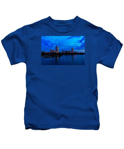 Boston Evening Kids T-Shirt by Rick Berk