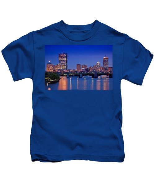 Boston Nights 2 Kids T-Shirt by Joann Vitali