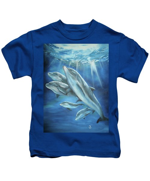Bottlenose Dolphins Kids T-Shirt