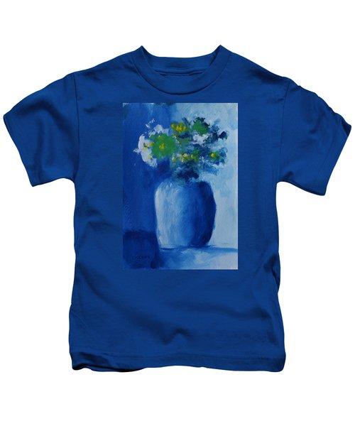 Bouquet In Blue Shadow Kids T-Shirt