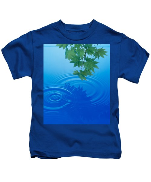 Branch With Green Leaves Suspended Kids T-Shirt