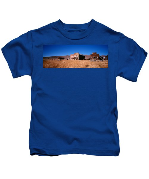 Buildings In A Ghost Town, Bodie Ghost Kids T-Shirt