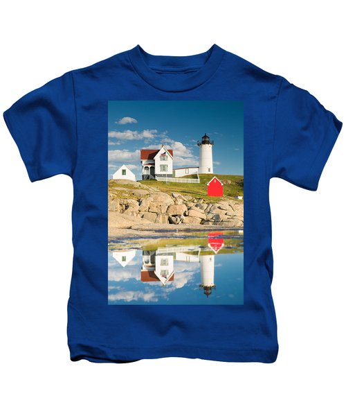 Cape Neddick Light  Reflections Kids T-Shirt