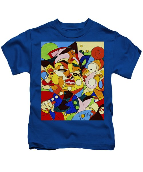 Cartoon Painting With Hidden Pictures Kids T-Shirt