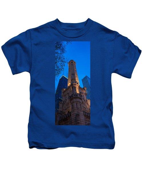 Chicago Water Tower Panorama Kids T-Shirt