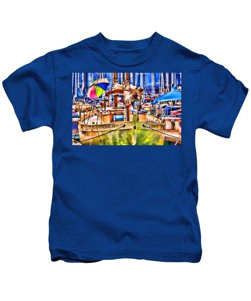 Chico Sail Boat By Diana Sainz Kids T-Shirt