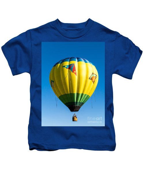 Colorful Hot Air Balloon Over Vermont Kids T-Shirt