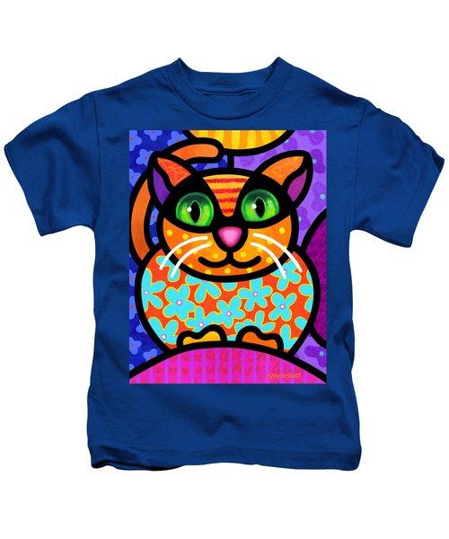 Contented Cat Kids T-Shirt