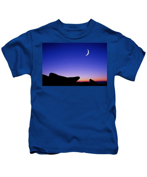 Crescent Moon Halibut Pt. Kids T-Shirt