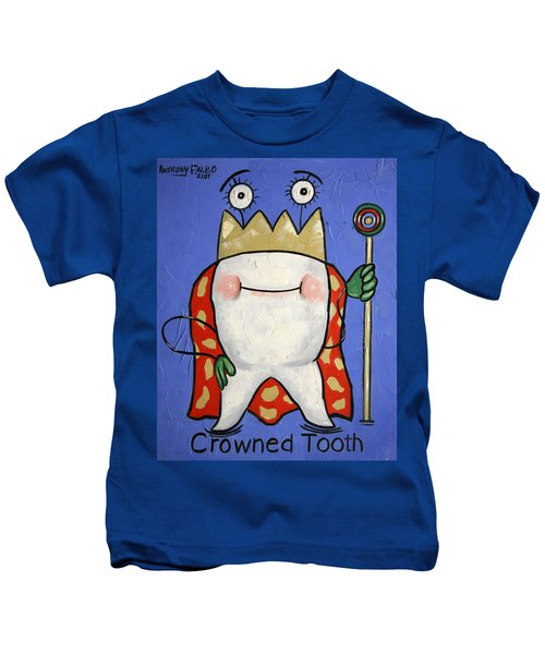 Crowned Tooth Kids T-Shirt