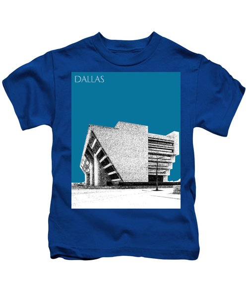Dallas Skyline City Hall - Steel Kids T-Shirt