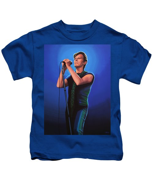 David Bowie 2 Painting Kids T-Shirt