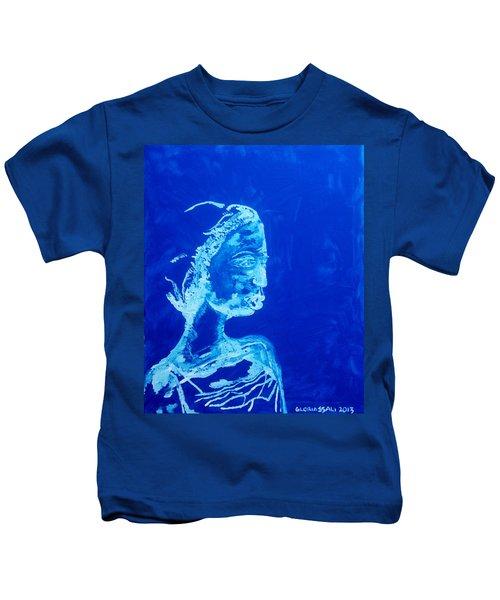 Dinka Painted Lady - South Sudan Kids T-Shirt
