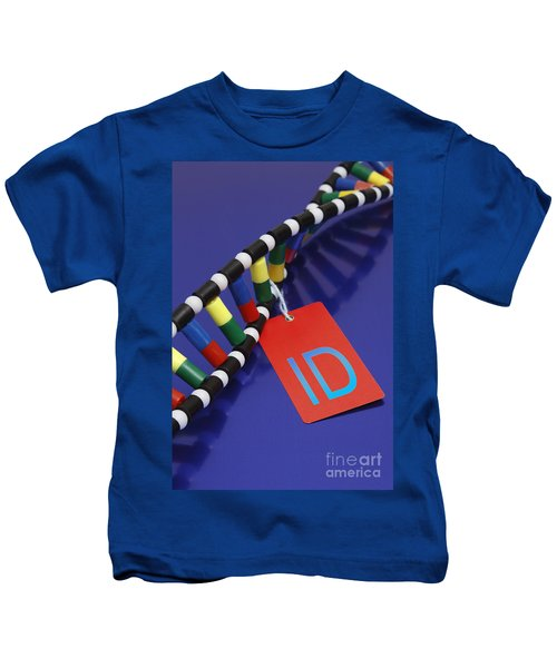 Dna Double Helix, Id Tag Kids T-Shirt