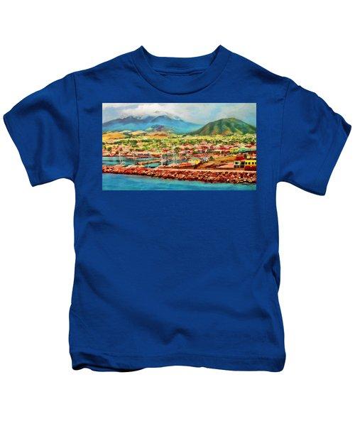 Docked In St. Kitts Kids T-Shirt