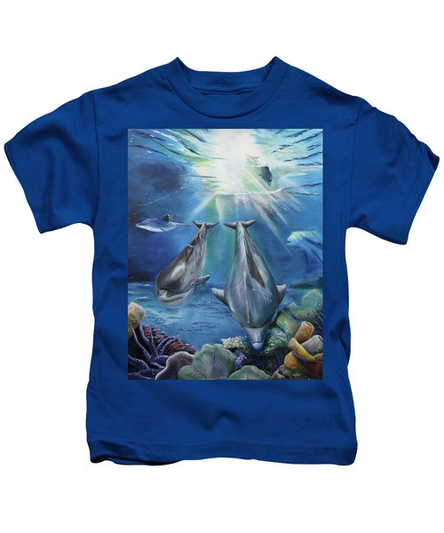 Dolphins Playing Kids T-Shirt