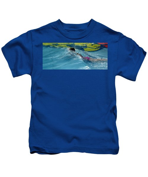 Ducking Under A Wave In A Pool Kids T-Shirt