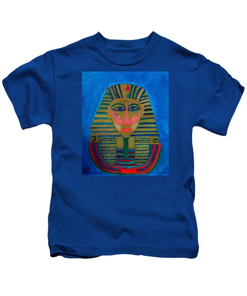 Kids T-Shirt featuring the painting Egypt Ancient  by Colette V Hera  Guggenheim