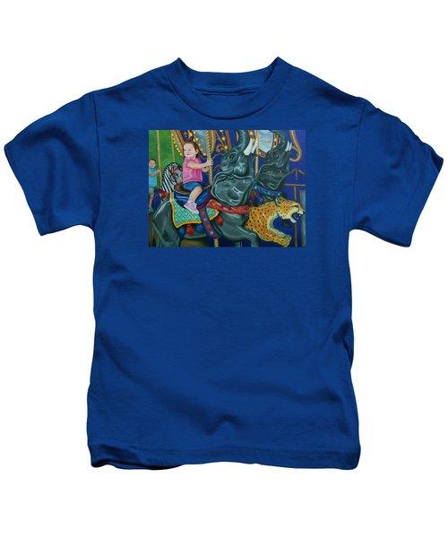 Elephant Ride Kids T-Shirt