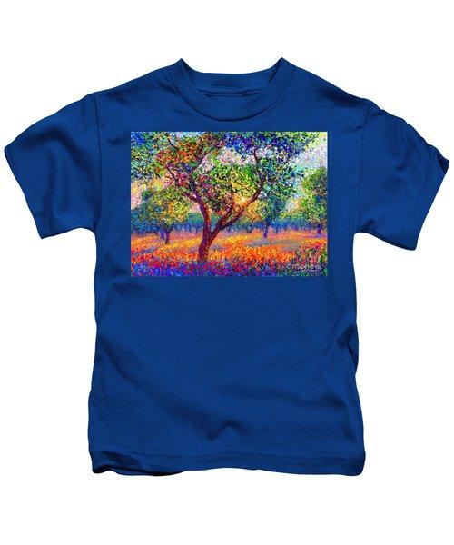 Evening Poppies Kids T-Shirt