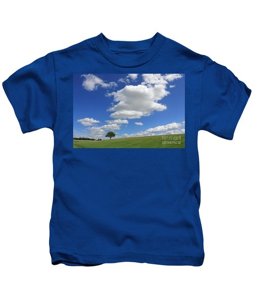 Fluffy Clouds Over Epsom Downs Surrey Kids T-Shirt