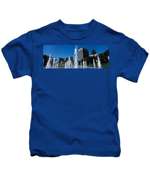 Fountain In A Park, Plaza De Cesar Kids T-Shirt