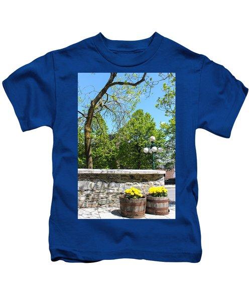 Barrel Of Flowers 09 Kids T-Shirt