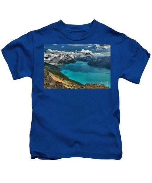 Garibaldi Lake Blues Greens And Mountains Kids T-Shirt