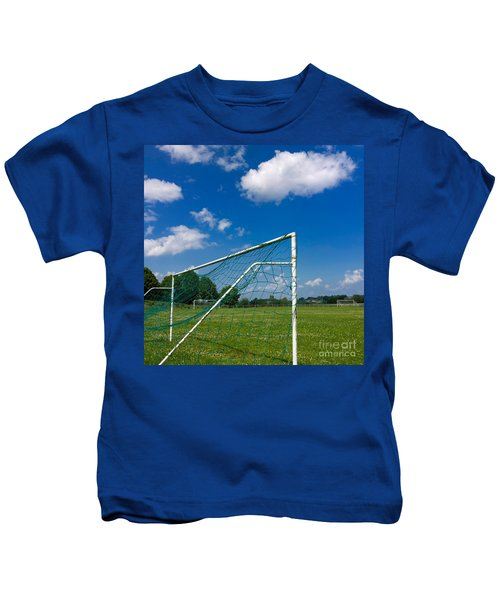 Goal. Football Pitch. France Kids T-Shirt