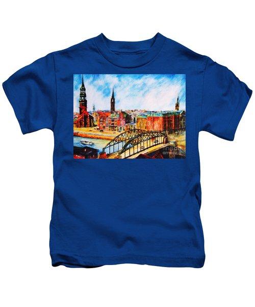 Hamburg - The Beauty At The River Kids T-Shirt