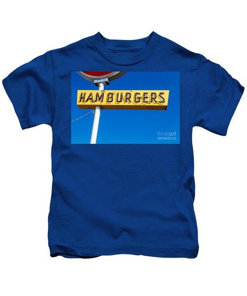 Hamburgers Old Neon Sign Kids T-Shirt