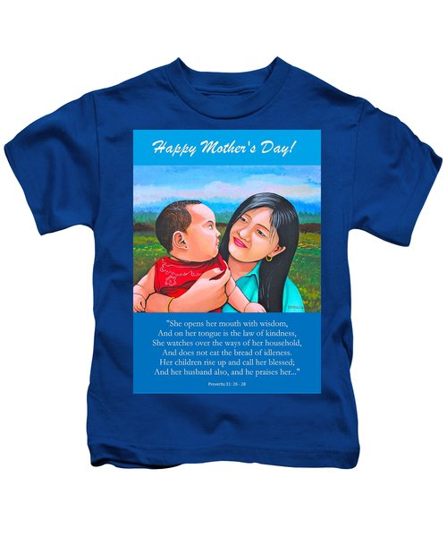 Happy Mom And Babe Kids T-Shirt